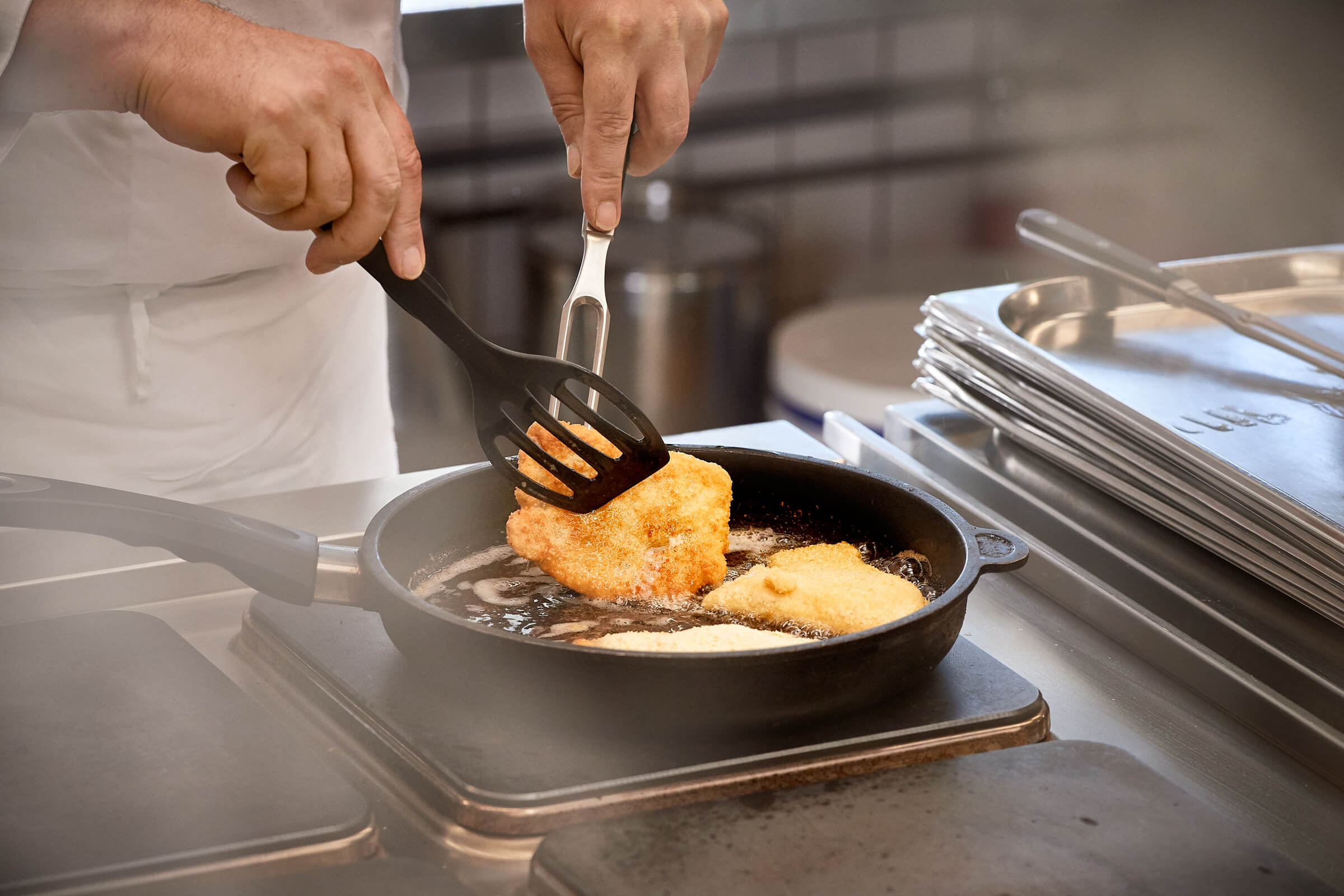 Zubereitung des Essens im EAZ